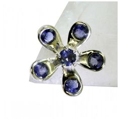 Riyo Diligent Iolite 925 Solid Sterling Silver Blue Ring Sriol8-38030