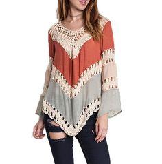 Umgee Usa Boho Chic Top óxido mezcla de algodón mezcla Crochet túnica Top Talla S-m-l in Ropa, calzado y accesorios, Ropa para mujer, Blusas   eBay