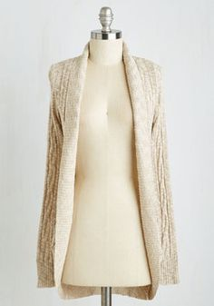Spirit of Serenity Cardigan. Manifest your most peaceful moments in the sweet style of this neutral cardigan. #cream #modcloth