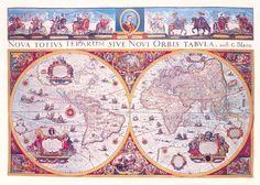 mappa del mondo I  - Willem Janszoon Blaeu - STAMPA SU TELA € 37,59