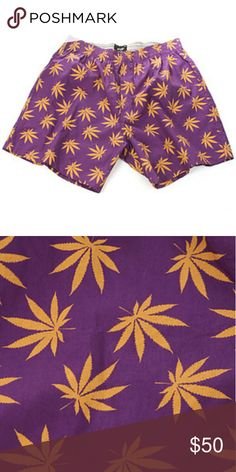 """HUF Plantlife 420 PURPLE Boxers ALL ITEMS ARE  SALE """"For a Limited Time Only""""   1 pair $75 OR BETTER OFFER  Available Size(s) - Small (28 - 30)  Color (Available):  - PURPLE & Gold leaves  Brand new, never been worn   FOLLOW ME & CHECK MY PIX lnstagram - miistah_got_it_all Twitter - @eye_got_it_all  """"PAYPAL friendly"""" as well HUF Underwear & Socks"""