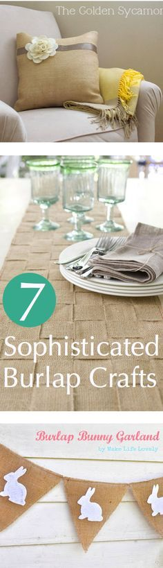 7 Sophisticated Burlap Crafts || CraftFoxes #sewing #homedecor | best stuff