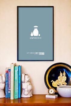My Neighbor Totoro // Minimalist Forest Spirit Movie Poster // Miyazaki and Ghibli Art Print