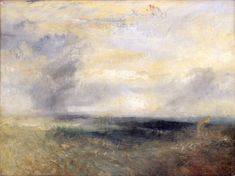 Margate from the Sea from the The National Gallery collection. Painting by Joseph Mallord William Turner, Covent Garden, Abstract Landscape, Landscape Paintings, Landscapes, Oil Paintings, Turner Watercolors, Turner Contemporary, Turner Painting, Joseph Mallord William Turner