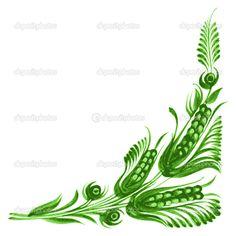 Декоративный цветочный уголок - Стоковая иллюстрация: 25080657