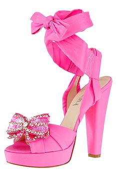 Blumarine ~ Jeweled Pink Platform Pump