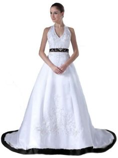 FairOnly Halter Wedding Dresses Bridal Gown Custom Made Size 6 8 10 12 14 16 18+