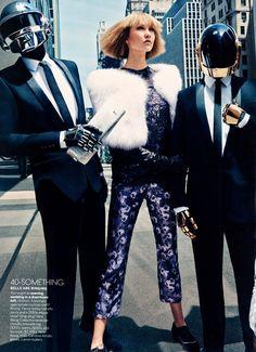 Daft Punk Joins Karlie Kloss for American Vogue