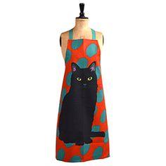 Leslie Gerry Black Cat Apron