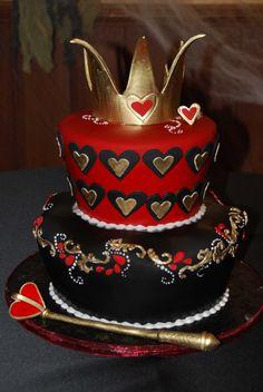 The Red Queen cake. Queen of Hearts cake. Alice in Wonderland cake.