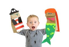 paper bag puppets - Small Fry