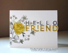 Cards For Friends, Friend Cards, Concord And 9th, Subtle Textures, Good Friday, Tiny Flowers, Pretty Pastel, Digital Stamps, Embossing Folder