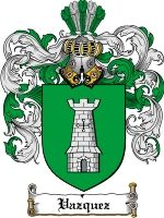 Vazquez Coat of Arms / Family Crest Downloadable JPG. Download now for only $7.75 in a high quality 300 dpi file.