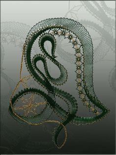 Chemnitzer Klöppelwerkstatt Lace Heart, Lace Jewelry, Bobbin Lace, Lace Detail, Fiber Art, Tatting, Art Projects, Pattern, Christmas