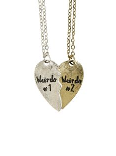 LOVEsick Weirdo Best Friends Necklace Set | Hot Topic $10.50