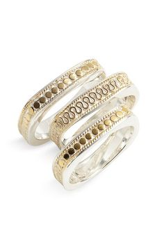 Anna Beck stack rings, love!!!