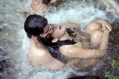 """dimestorekeets:  A couple bathe in a waterfall. Woodstock Festival, 1969.Photograph by Bill Eppridge   """