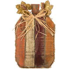 Tall Wood & Burlap Pallet Pumpkin