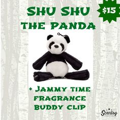 NEW! SHU SHU the Panda Buddy Clip with Jammy Time Fragrance