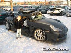 Porsche 911 996 crashed in Calgary, Canada
