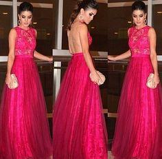vestidos de festas longos vermelho - Pesquisa Google