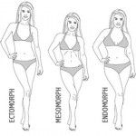 mesomorph body type: Female mesomorphs should focus on weight loss to shrink your waistline (think Halle Berry!) with cardio and simply shaping and contouring the curves of your figure. The goal is to create a lot of shape. Female mesomorphs should concentrate on a strong cardio workout and limit weights. Weight Loss Calculator