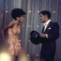 "Diana Ross and Sammy Davis Jr. at ""The Hollywood Palace"", 1968."