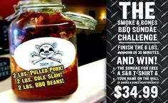 Pig Out:  Can You Conquer the Smoke + Bones BBQ Sundae Challenge?
