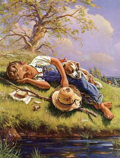 1950's A Boy & His Dog#| [ So peaceful so sweet..I wish I could be there!!/Z]