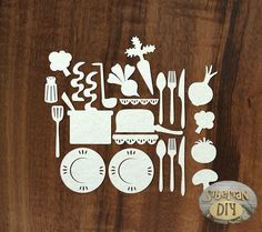 "Laser Cut Chipboard ""Set of ""Cooking at home [2]"" by SiberianDIYcraftsArt on Etsy"