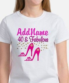 FABULOUS 40TH Tee Celebrate turning 40 with our fabulous personalized 40th Birthday Tees and Gifts! http://www.cafepress.com/jlporiginals/6515966 #40thbirthday #Happy40th #40thgifts #personalized40th #turning40