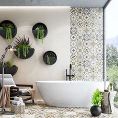 2020 bathroom design - Google Search Bathroom Ideas Uk, Bathroom Decor Pictures, Modern Bathroom Decor, Bathroom Trends, Bathroom Layout, Bathroom Styling, Bathroom Wall, Nature Bathroom, Bathroom Flowers