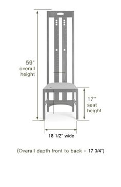 Charles Rennie Mackintosh Highback Ingram Chair - Click to enlarge