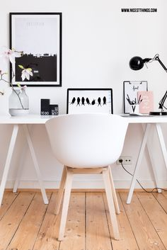 Nordic Working Space with Hay About a Chair | Nicest Things