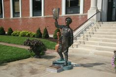 Statue at the St. Joseph News Press building at and Edmond Streets, downtown St. Saint Joseph Missouri, St Joseph, New Press, The St, Public Art, Saints, Statue, History, News