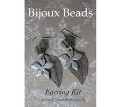 Jewellery making kit from Bijoux Beads featuring Winter leaf charms and star flowers to make your own earrings Winter Leaves, Leaf Earrings, Jewellery Making, Kit, Beads, Silver, Jewelry, Beading, Jewlery