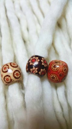 Check out this item in my Etsy shop https://www.etsy.com/listing/490676040/dreadlock-beads-set-wood-dread-beads-set
