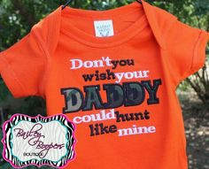 Cute top for baby/kid during hunting season!!