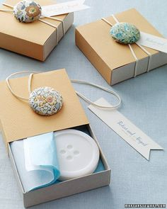 little boxes, gift boxes, gift wrapping, button, wrapping gifts