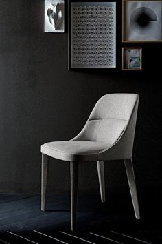 The Jackie Armchair by Gallotti & Radice is a stunning contemporary furniture item completely covered with fabric or suede, suitable for all interior designs. The Jackie chairs are suitable for both living and dining areas.