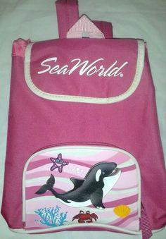 Seaworld Shamu Pink Bag Backpack Back To School 2 Compartment  #RuggedEquipment