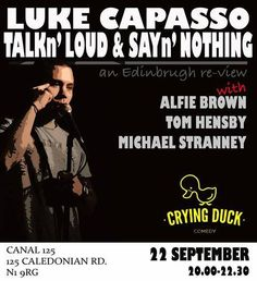So this was the very last Monday night Crying Duck hosted by Canal 125.  We will be back with a brand new, super cool venue to wash your Monday blues away. You can still get your Duck fix on Friday 31st October as we present our Halloween Showcase - headlined by Simon Munnery with support from Best, Wang & Cantrill. Ticket link coming soon, keep your eyes peeled and we'll see you on the 31st!