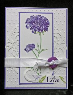 All occasion FIELD FLOWERS with love card stampin up handmade.  Etsy.