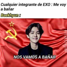 Chanyeol, Kyungsoo, Blackpink Memes, Exo Memes, Exo 12, Baekyeol, Yolo, Bts And Exo, Kpop