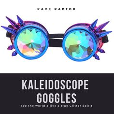 8b83b7260277 Kaleidoscope Rave Glasses Festival Party EDM Goggle Sunglasses Diffracted  Lens Eyewear. Festival Outfits ...