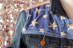 Americana denim detail, love!
