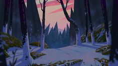 """A background for the upcoming short film """"Whack Jobs"""" There's more stuff on the project at the attached links, cheers! Artstation Project: www. Landscape Illustration, Graphic Design Illustration, Illustration Art, Illustration Example, Scenery Background, Animation Background, Background Designs, Fantasy Landscape, Landscape Art"""