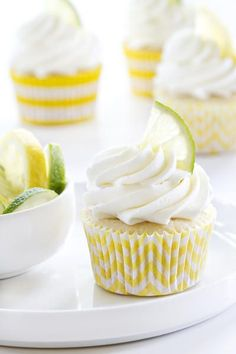 Lemon lime cupcakes are fun and festive for summer. Whip them up for your next barbecue.