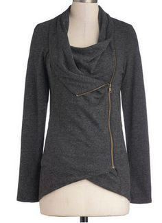 Love this side zip cardigan