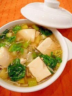 「とろとろ豆腐の★熱々!中華スープ。」片栗粉でとろみをつけて、豆腐を入れてボリュームたっぷりの中華スープにしました。豆腐がつるん、スープがとろとろ♥いつまでも熱々です!【楽天レシピ】